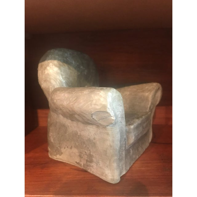 Miniature Lounge Chair Ceramic Sculptures - a Pair For Sale - Image 9 of 10