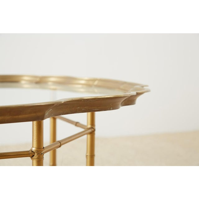 Baker Brass and Glass Tray Top Coffee Cocktail Table For Sale In San Francisco - Image 6 of 13