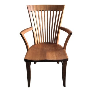 Thos. Moser Hawthorne Cherry Wood Arm Chair For Sale