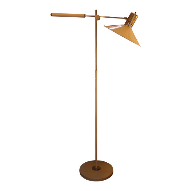 Mid Century Italian Swing Arm Floor Lamp For Sale