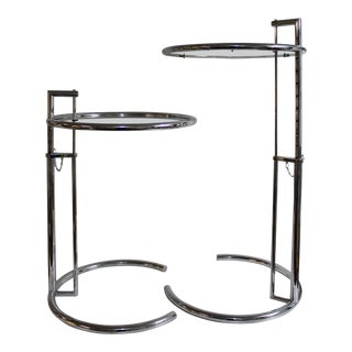 Early 2000s Aram Eileen Grey E1027 Side Tables - A Pair For Sale