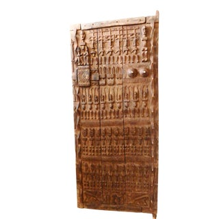African Malian Dogon Carved Wood Door