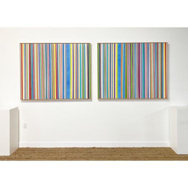 """John O'Hara Exclusive John O'Hara """"Sardinia, 4"""" Encaustic Paintings (2-Panel) For Sale - Image 4 of 10"""