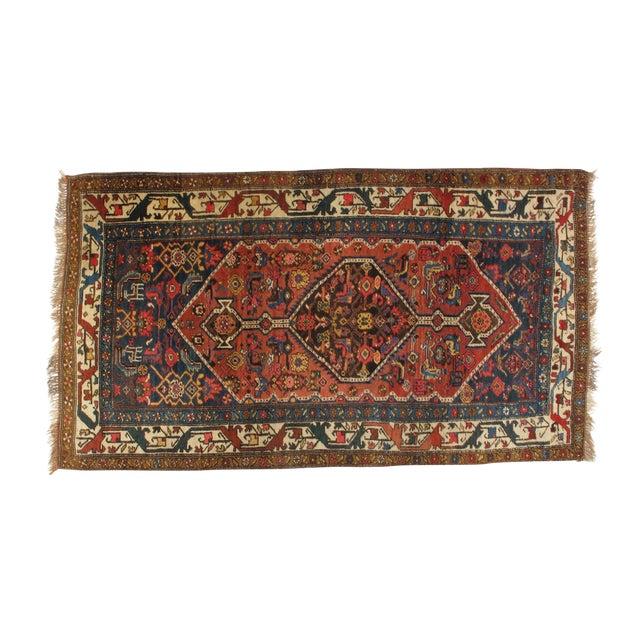 Antique Bijar Woven Wool Rug - 4′ × 7′ - Image 1 of 4