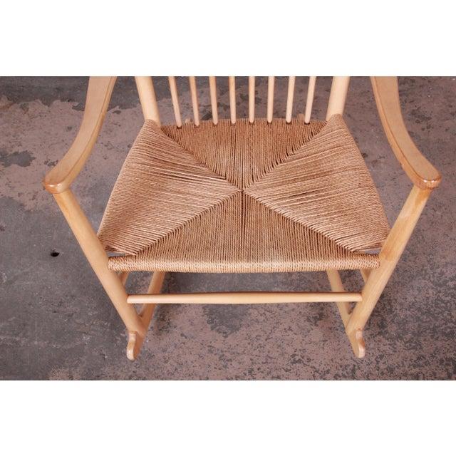 FDB Møbler Hans J. Wegner J16 Danish Rocking Chair For Sale - Image 4 of 8