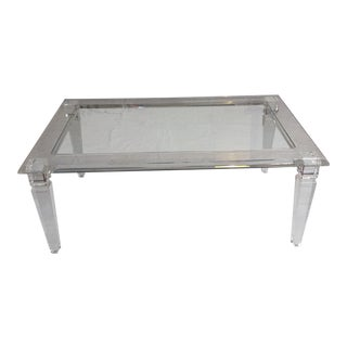 Vintage Lucite Coffee Table For Sale