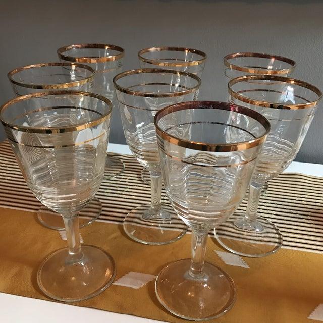 Gold Rimmed Glasses - Set of 8 - Image 3 of 6