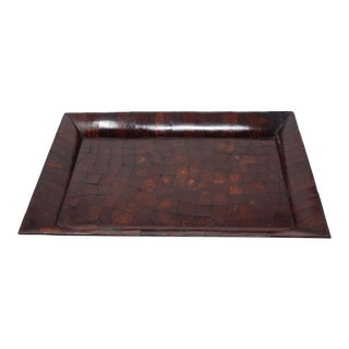 Antique Chinese Parquetry Scholars' Incense Tray For Sale