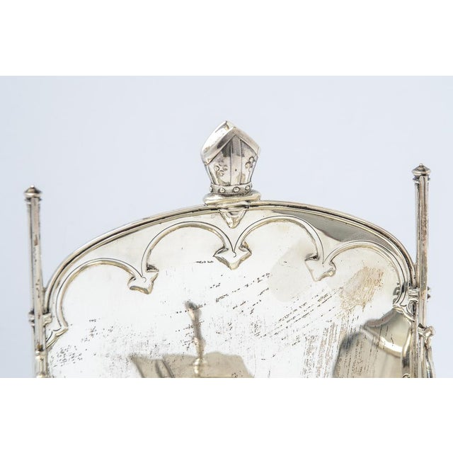 English Sterling silver inkstand For Sale - Image 3 of 9
