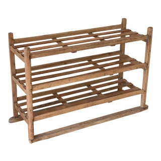 Antique Industrial Wooden Rack For Sale