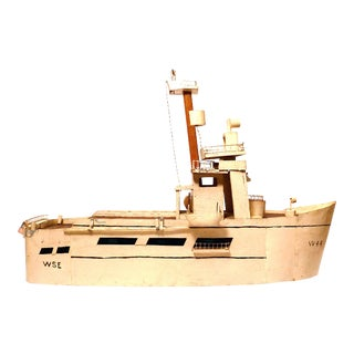 1950s Folk Art Model Ship
