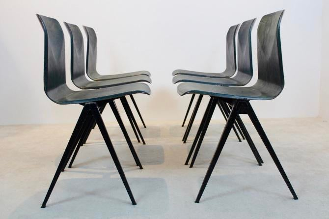 Two Toned Stackable Pagholz Galvanitas S22 Industrial Diner Chairs For Sale    Image 10 Of
