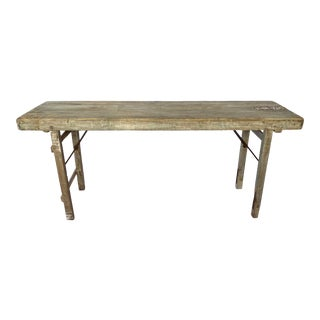 Rustic Indian Wood Wedding Banquet Table For Sale