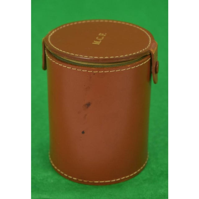 1950s Mark Cross Tube Dice Gaming Set in Leather Case For Sale - Image 5 of 12