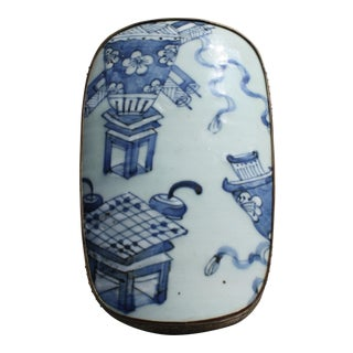 Antique Chinese Blue & White Shard Box