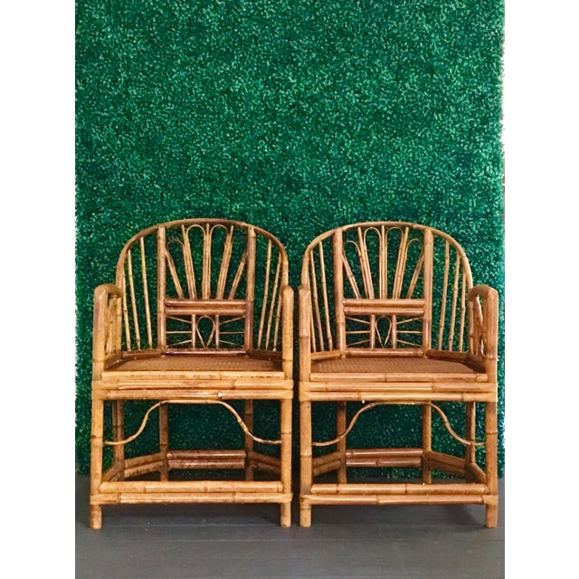 1980s Vintage Brighton Bamboo ChairsA Pair For Sale In Charleston - Image 6 of 13