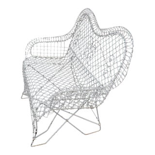 Wire Mesh Loveseat Settee Outdoor Bench For Sale