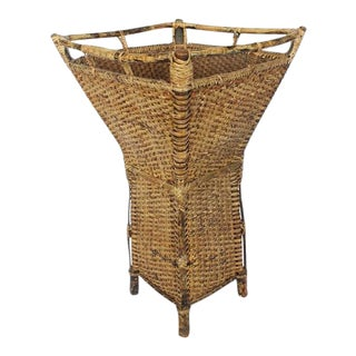 1930's Vintage Bamboo Umbrella Stand For Sale