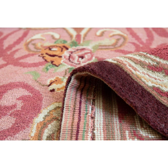 MANSOUR Mansour Fine Handwoven European Rug - 6' X 9' For Sale - Image 4 of 4