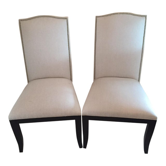 Crate & Barrel Colette II Chairs - A Pair - Image 1 of 8