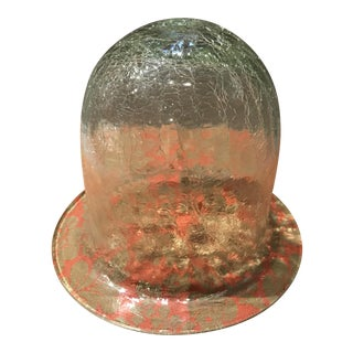 20th Century Traditional Crackled Glass Bell Display Cloche