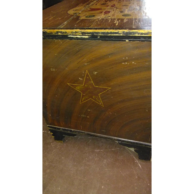Antique Folk Art Hand Painted Wedding Chest For Sale In Phoenix - Image 6 of 9