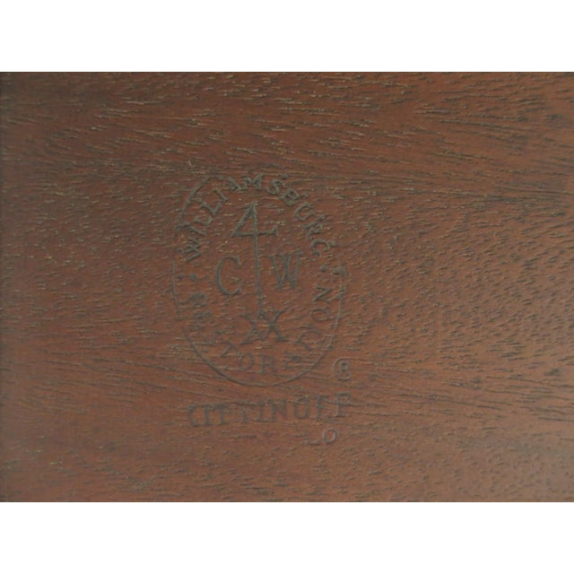 1960s Queen Anne Kittinger Colonial Williamsburg Mahogany Drop Leaf Table For Sale - Image 10 of 12