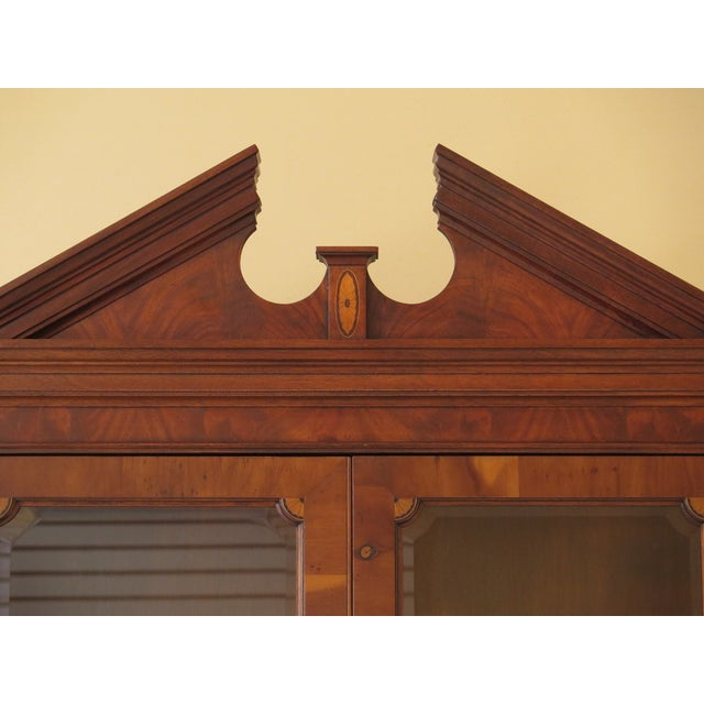 1990s Vintage Hekman Inlaid Mahogany & Yew Wood Secretary Desk For Sale - Image 9 of 13