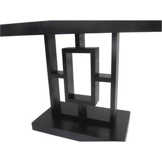 Art Deco Arts & Crafts Mission Ebonized Geometric Side Accent Table Preview