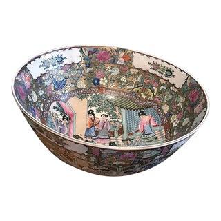 Asian Rose Mandarin Bowl For Sale