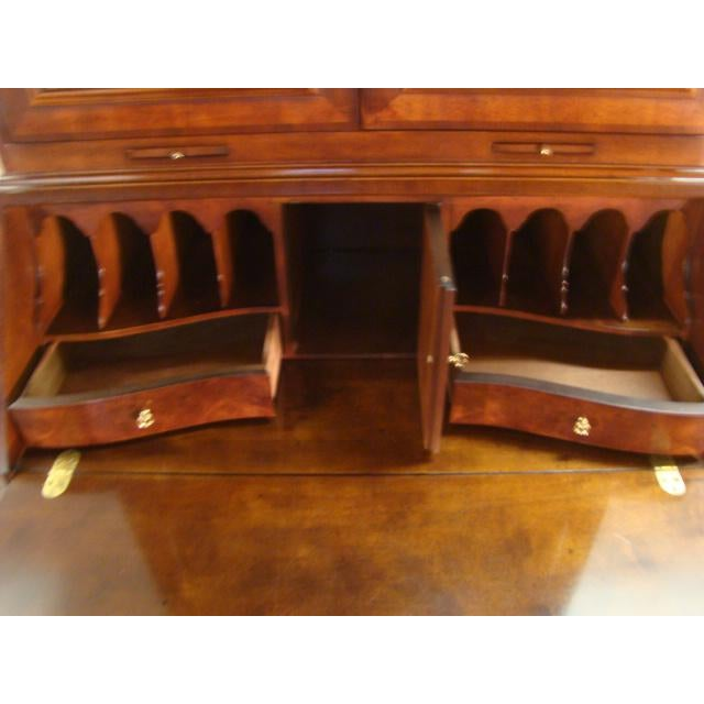Wood Traditional Henredon Aston Court Burl Wood Secretary Desk For Sale - Image 7 of 10