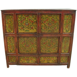 Hand Painted Tibetan Cabinet For Sale
