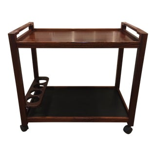 Rosewood Danish Bar Cart For Sale