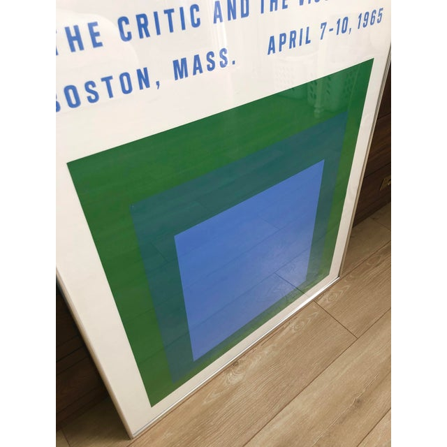 1960s 1965 Vintage Josef Albers Homage to the Square American Federation of Arts Framed Poster For Sale - Image 5 of 11