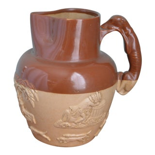 Antique English Doulton Pitcher For Sale