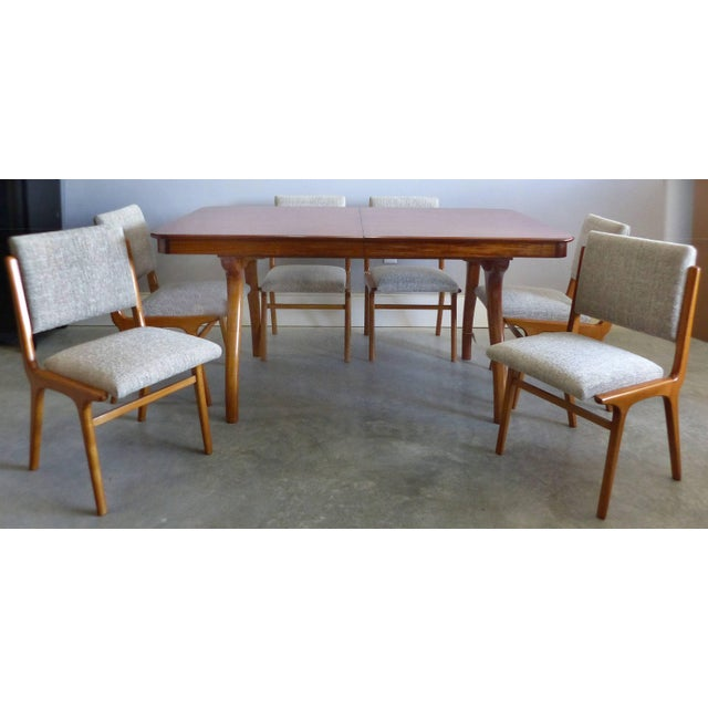 Giuseppe Scapinelli De Rosa Wood Dining Table and Chairs Circa 1960 For Sale - Image 9 of 11