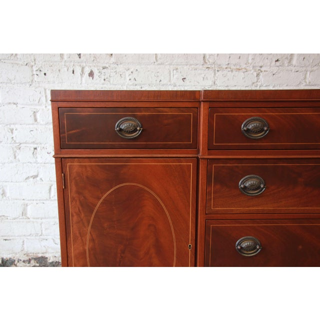 Baker Furniture Inlaid Mahogany Sideboard Buffet For Sale In South Bend - Image 6 of 11