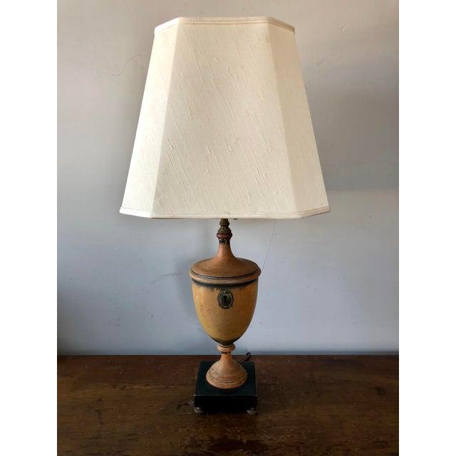 Black Antique Knife Urn Table Lamp For Sale - Image 8 of 8