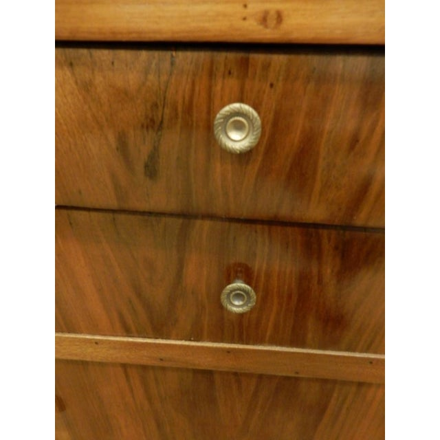 Pair of French Empire Walnut Bedside Cabinets For Sale - Image 10 of 11