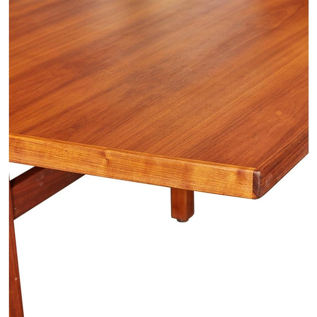 Lovely Massive Foot Jens Risom Walnut Conference Table Circa - 4 foot conference table
