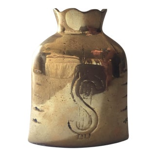 Vintage Brass Money Bag