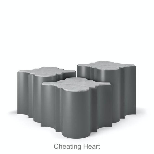 Sofia Nesting Tables, Set of 3 - Cheating Heart Charcoal For Sale In Los Angeles - Image 6 of 6