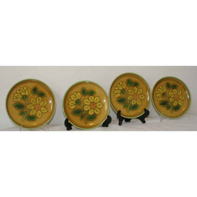 Vintage Metlox Poppytrail California Pottery Luncheon Plates - Set of 4 - Image 6 of 7