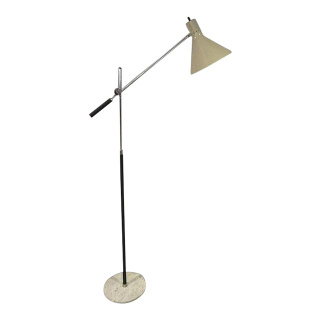 1960s Vintage Italian Floor Lamp With Marble Base For Sale