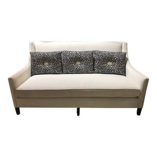 Contemporary Custom Duralee Box-Back Sofa For Sale