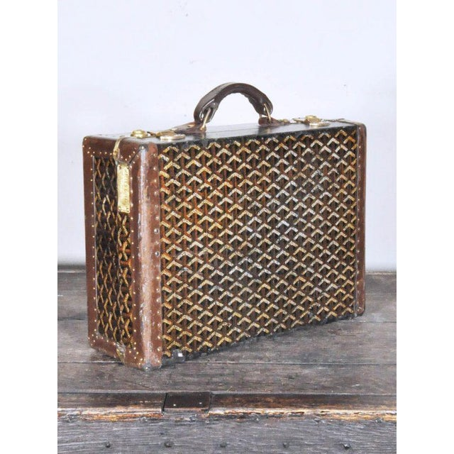 Animal Skin 19th Century Traditional Goyard Suitcase For Sale - Image 7 of 7