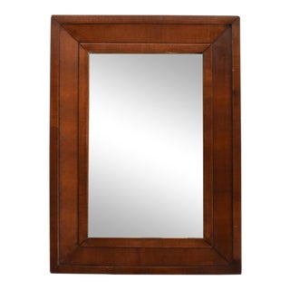 Antique C. 1840s Mahogany Ogee Wall Mirror For Sale