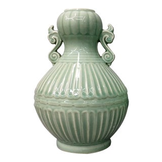 Vintage Celadon Vases