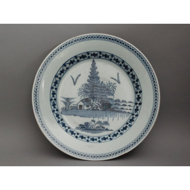 Ceramic 18th-C Delft Chinoiserie Charger For Sale - Image 7 of 7
