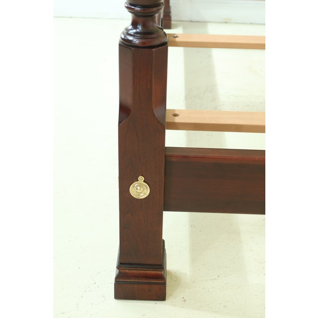 Traditional Stickley Queen Size Cherry High Back Poster Bed For Sale - Image 3 of 12